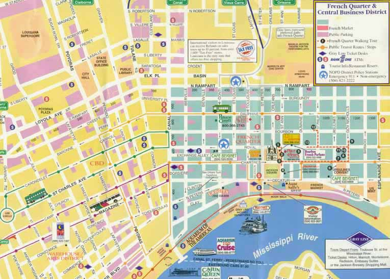 French Quarter Map Pictures To Pin On Pinterest